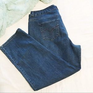 Just My Size Jeans - JMS Straight Dark Blue Jeans 20W